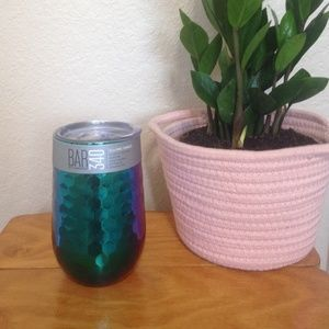 16oz Wine Tumblr with Lid Faceted Rainbow NWT